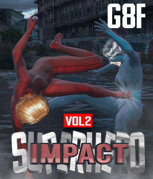 SuperHero Impact for G8F Volume 2 3D Figure Assets GriffinFX
