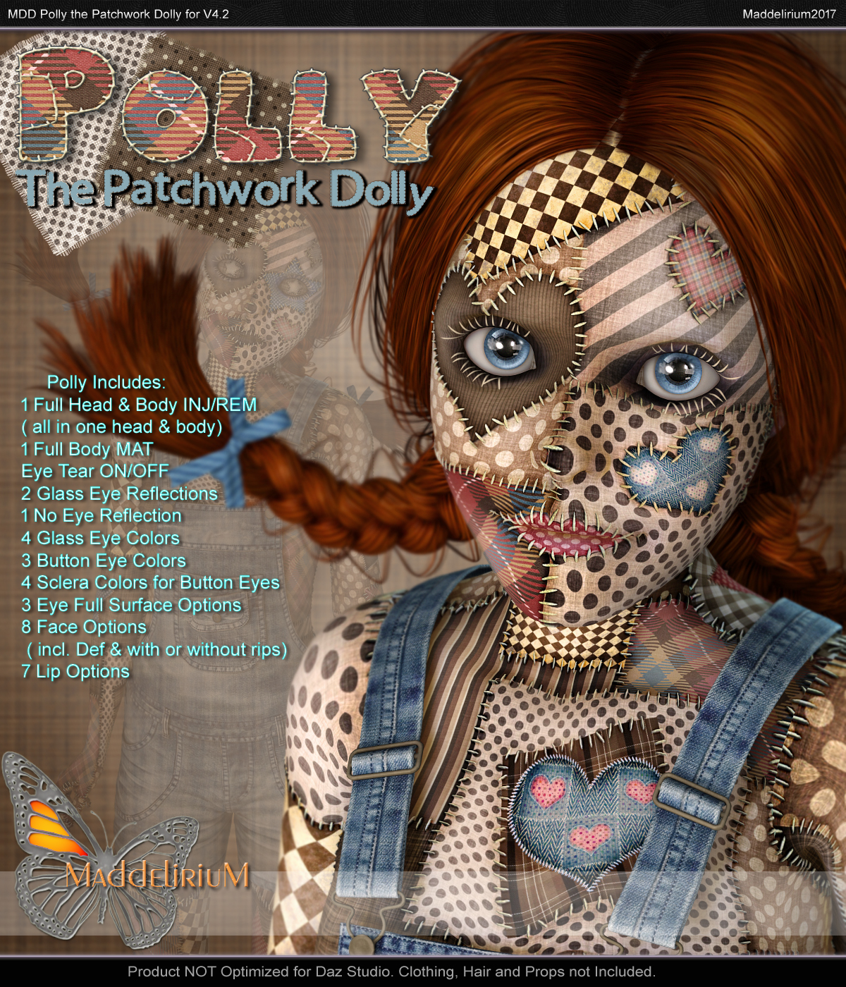MDD Polly the Patchwork Dolly for V4.2