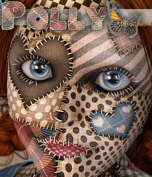 MDD Polly the Patchwork Dolly for V4.2 3D Figure Assets Maddelirium