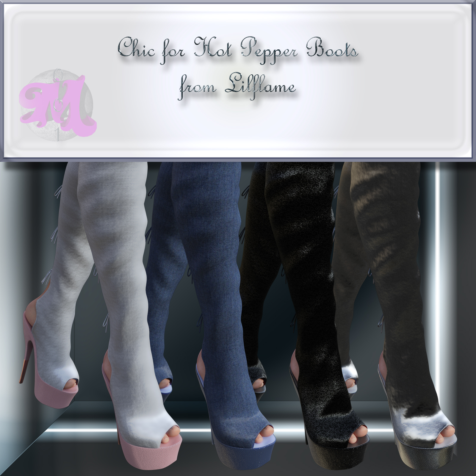 Chic for Hot Pepper Boots by Moonlight001