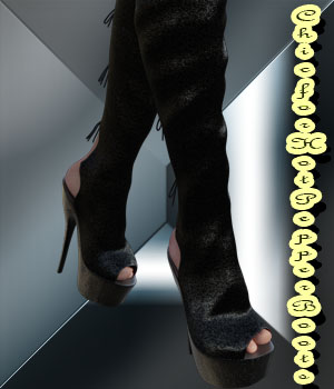 Chic for Hot Pepper Boots 3D Figure Assets Moonlight001