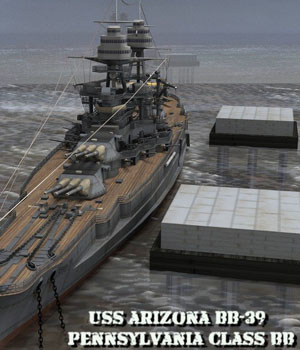 U.S.S Arizona for Poser 3D Models VanishingPoint