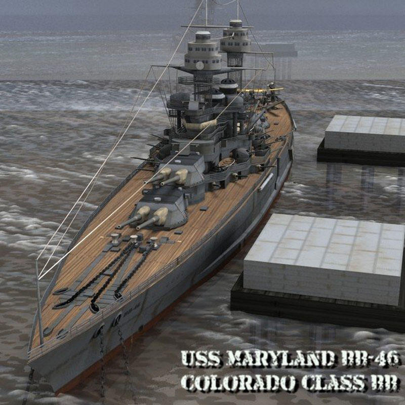 USS Maryland BB-46 - for Poser