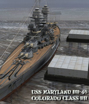 USS Maryland BB-46 - for Poser  3D Models VanishingPoint
