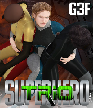 SuperHero Trio for G3F Volume 1 3D Figure Assets GriffinFX