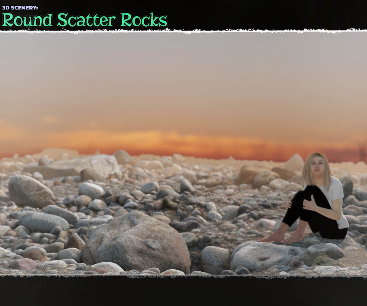 3D Scenery: Round Scatter Rocks