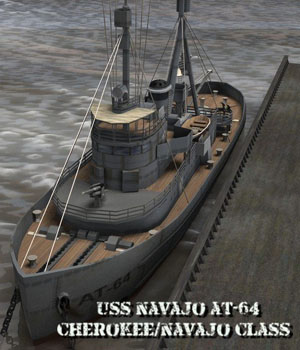 USS Navajo - for Poser  3D Models VanishingPoint