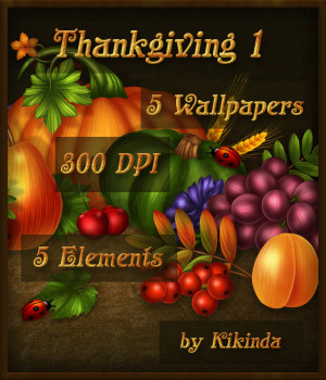 Thanksgiving Cornucopia Wallpapers and Elements 1 2D Graphics kikinda