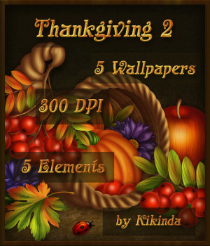 Thanksgiving Cornucopia Wallpapers and Elements 2 2D Graphics kikinda