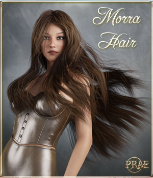 Prae-Morra Hair for G3/G8 3D Figure Assets prae