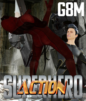 SuperHero Action for G8M Volume 1 3D Figure Assets GriffinFX
