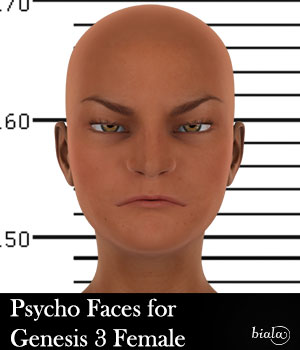 Psycho Faces for Genesis 3 Female 3D Figure Assets biala