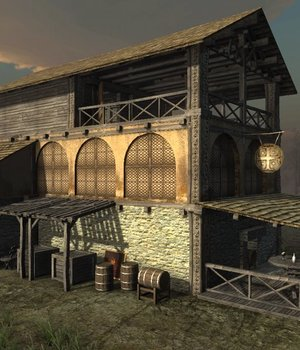 Medieval Tavern - Extended License 3D Game Models : OBJ : FBX 3D Models Extended Licenses dexsoft-games