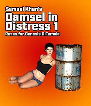 Samuel Khan's Damsel in Distress Poses 1 for G8F 3D Figure Assets SamuelKhan