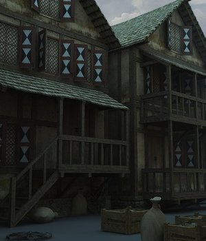Medieval Village 2 - Extended License 3D Game Models : OBJ : FBX 3D Models Extended Licenses dexsoft-games