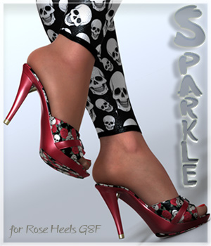 Sparkle Rose Heels and Pantyhose G8F 3D Figure Assets alexaana