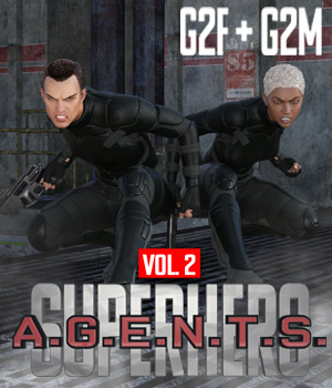SuperHero Agents for G2F and G2M Volume 2 3D Figure Assets GriffinFX