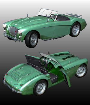 AUSTIN HEALEY 100 for POSER 3D Models 3DClassics