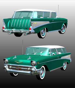 CHEVROLET NOMAD 1957 for POSER  3D Models 3DClassics