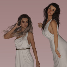 dForce Fantasy Gowns for G3F and G8F image 1