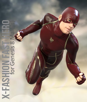 X-Fashion Fast Hero Outfit for Genesis 8 Males 3D Figure Assets xtrart-3d