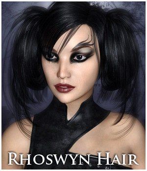 Rhoswyn Hair for Gen 8 3D Figure Assets Propschick