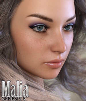 Malia for Genesis 8 Female 3D Figure Assets Silver