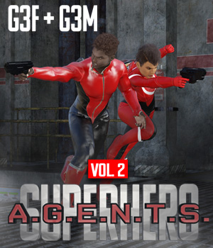 SuperHero Agents for G3F and G3M Volume 2 3D Figure Assets GriffinFX