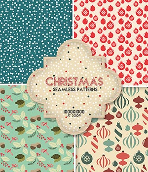 Christmas :: Seamless Patterns 2D Graphics Merchant Resources Cyrax3D