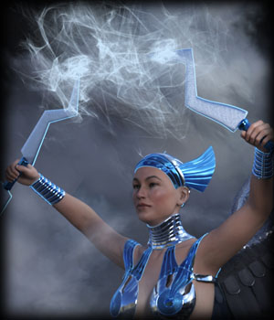 Space Goddess for G8F - Morphing Thunderstorm AddOn 3D Models EdArt3D