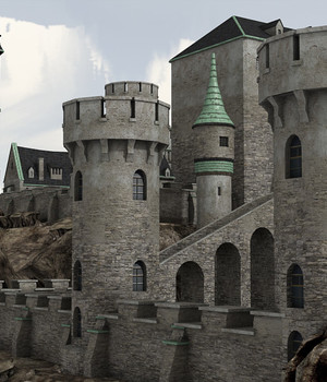 Medieval Castle 3 - Extended License 3D Game Models : OBJ : FBX 3D Models Extended Licenses dexsoft-games