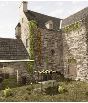Medieval Castle Village - Extended License 3D Game Models : OBJ : FBX 3D Models Extended Licenses dexsoft-games