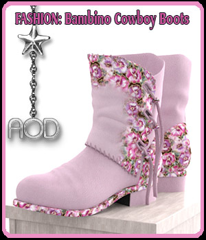 FASHION: Bambino Cowboy Boots 3D Figure Assets ArtOfDreams