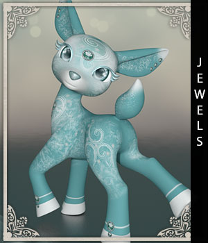 Jewels for Precious Deer 3D Figure Assets sandra_bonello