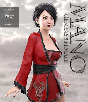 Mano For Genesis 3 Female 3D Figure Assets KobaAlexander