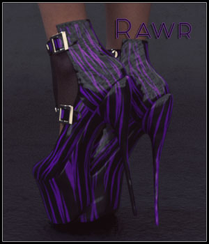 Rawr For Hex Shoes G3F 3D Figure Assets SynfulMindz