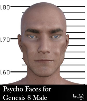 Psycho Faces for Genesis 8 Male 3D Figure Assets biala