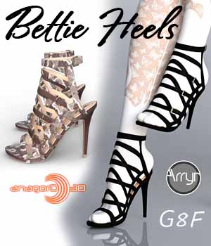 Bettie Heels and Pantyhose G8F 3D Figure Assets Arryn