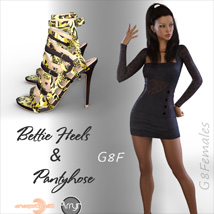 Bettie Heels and Pantyhose G8F image 2