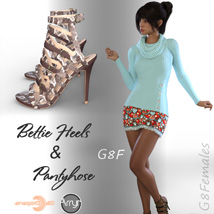 Bettie Heels and Pantyhose G8F image 4