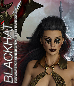 BLACKHAT - Vamps for Genesis 3 Femalea 3D Figure Assets Anagord