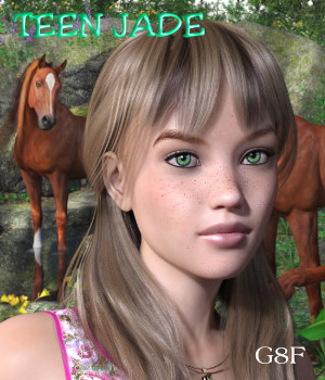 Teen JADE for G8F 3D Figure Assets Mar3D