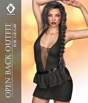 JMR Open Back Outfit for G3F/G8F 3D Figure Assets JaMaRe
