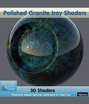 30 Polished Granite Iray Shaders - Merchant Resource 3D Figure Assets Merchant Resources nelmi
