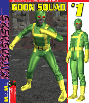 Kitbashers G3M Goon Squad 001 3D Figure Assets MightyMite