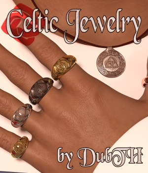 Celtic Jewelry For G3F G3M G8F G8M 3D Figure Assets DubTH