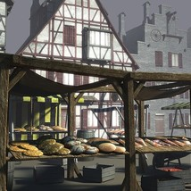 Medieval Market Place - Extended License image 1