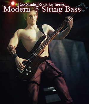 Rockstar Series: Modern 5 String Bass for G3 & G8 - DS 3D Models sixus1