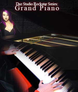Rockstar Series: Grand Piano -  G3 G8 DS 3D Models sixus1
