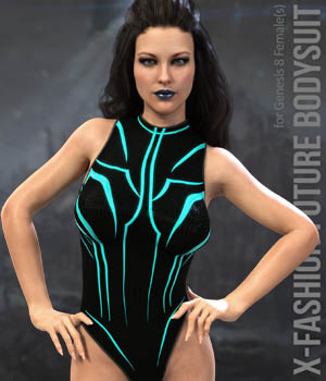 X-Fashion Future Bodysuit for Genesis 8 Females 3D Figure Assets xtrart-3d